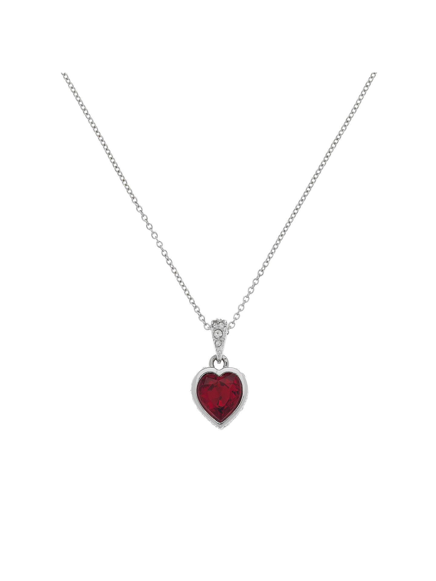35fc602f43206c Cachet Rhodium Plated Swarovski Crystal Zazu Siam Heart Pendant ...
