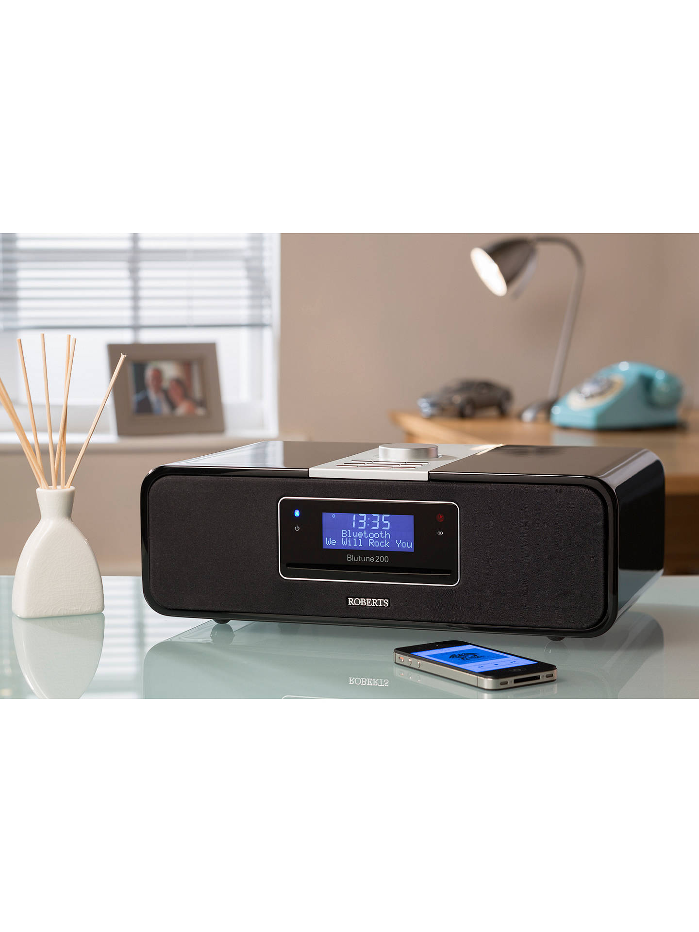 Buy ROBERTS Blutune 200 DAB/FM/CD Bluetooth Radio, Gloss Black Online at johnlewis.com