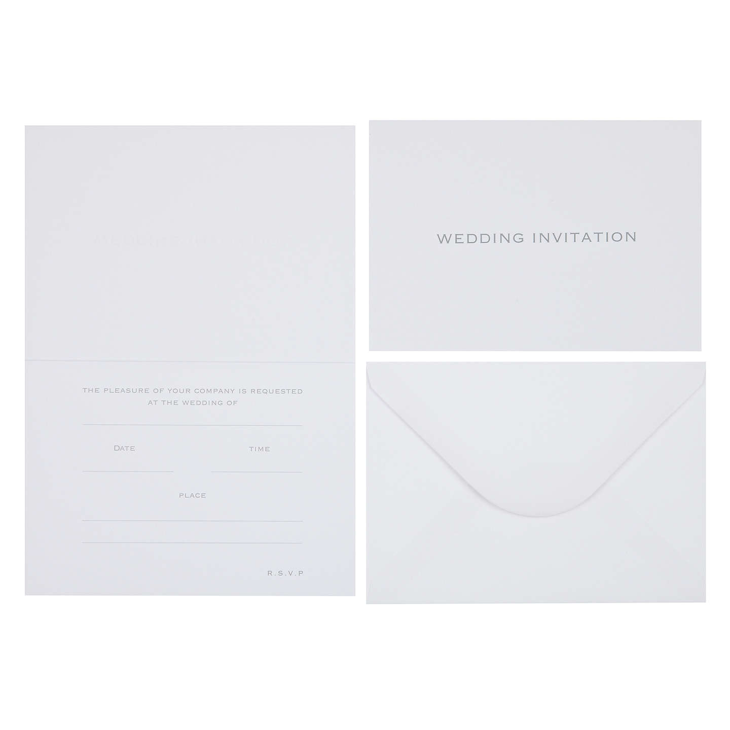 John lewis wedding invitation cards pack of 6 at john lewis buyjohn lewis wedding invitation cards pack of 6 online at johnlewis stopboris Image collections
