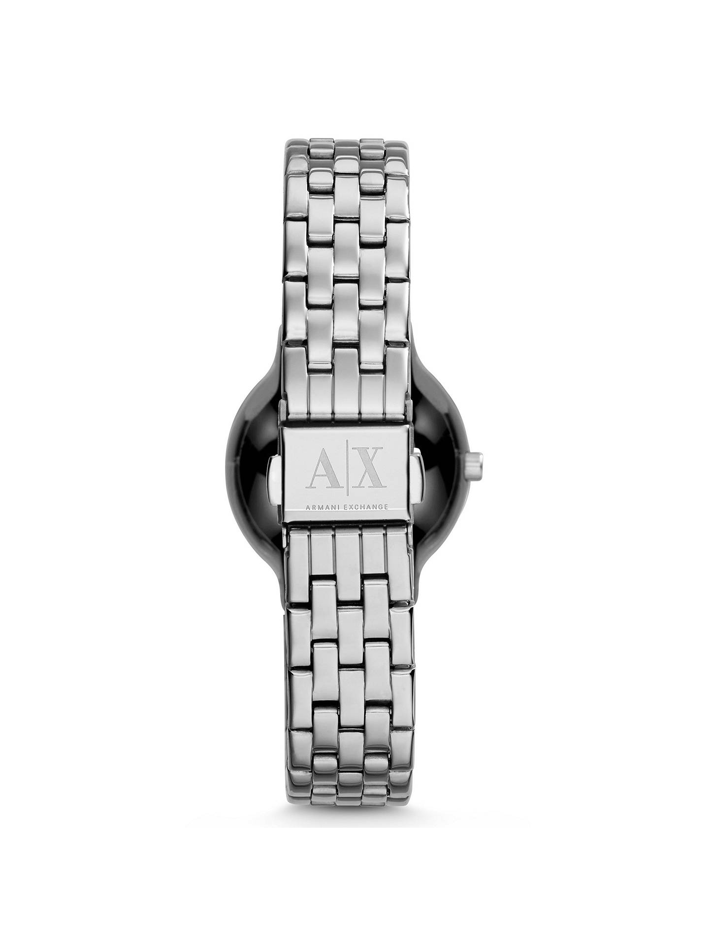 BuyArmani Exchange AX5415 Women's Crystal Bracelet Strap Watch, Silver Online at johnlewis.com
