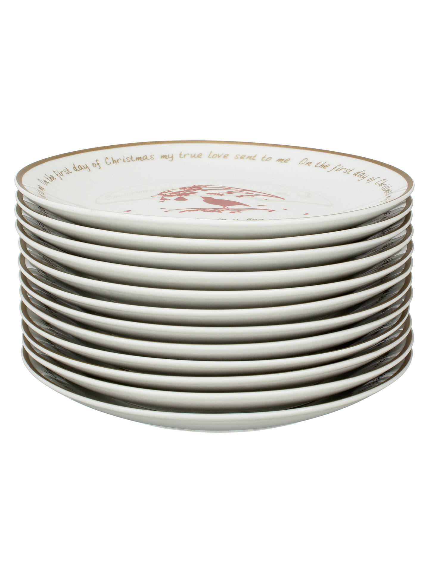 buyjohn lewis 12 days of christmas tea plates set of 12 online at johnlewis