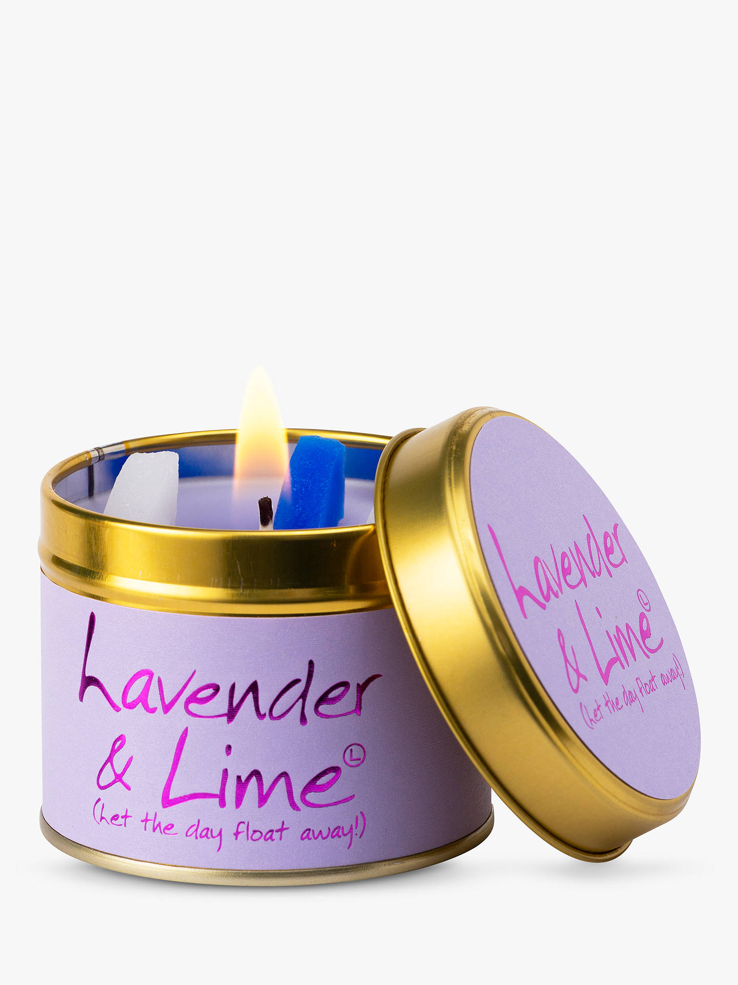 Buy Lily-flame Lavender & Lime Scented Tin Candle, 230g Online at johnlewis.com