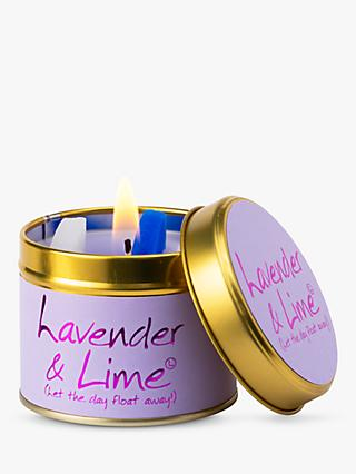 Lily-Flame Lavender and Lime Scented Candle Tin
