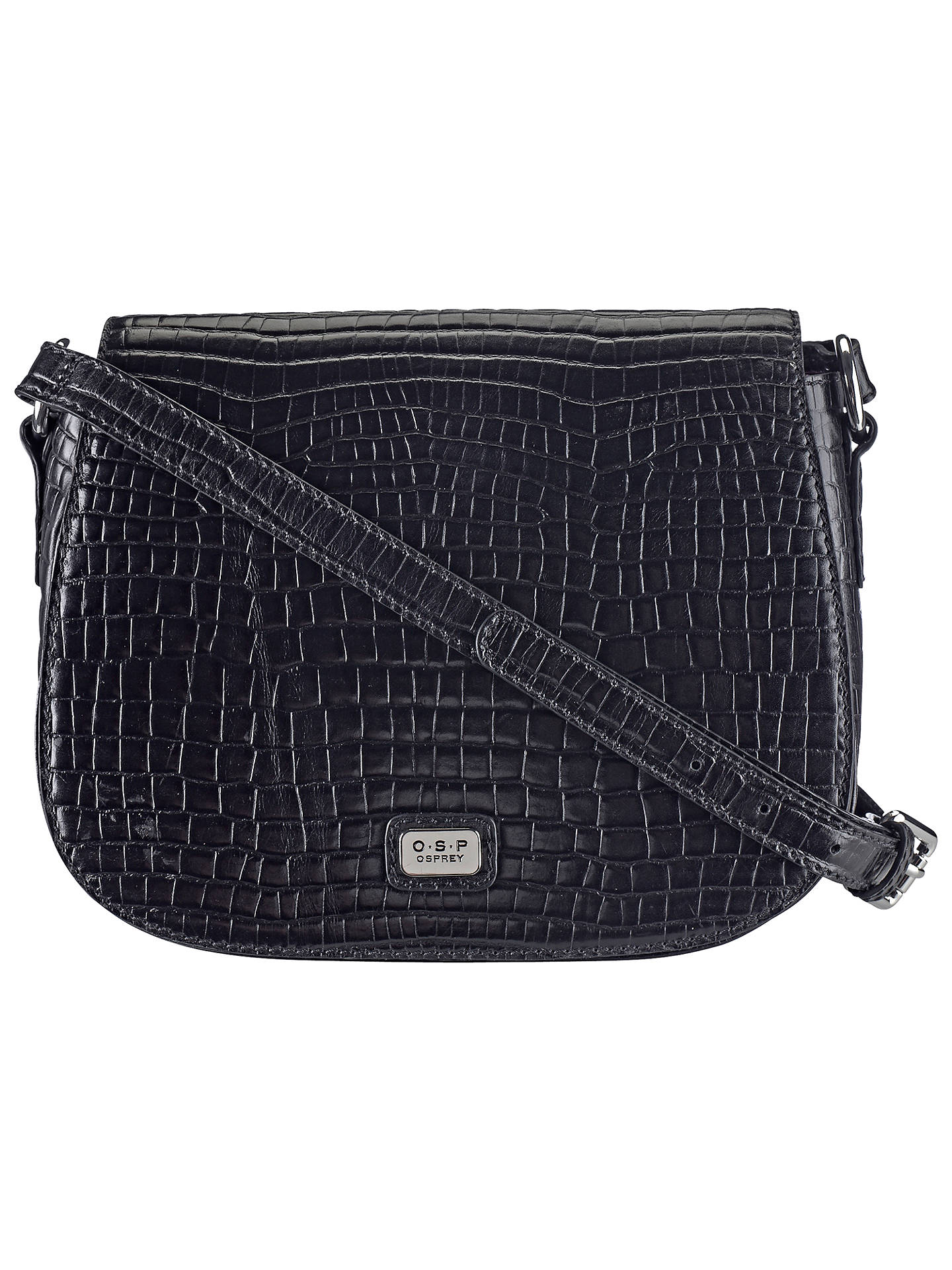 S P Osprey Andria Leather Cross Body Bag Black Online At Johnlewis