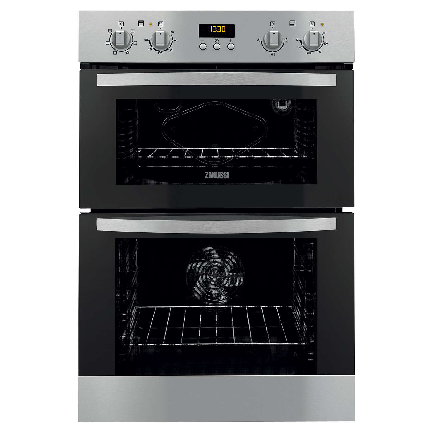 zanussi zod35511xk built in double electric oven. Black Bedroom Furniture Sets. Home Design Ideas