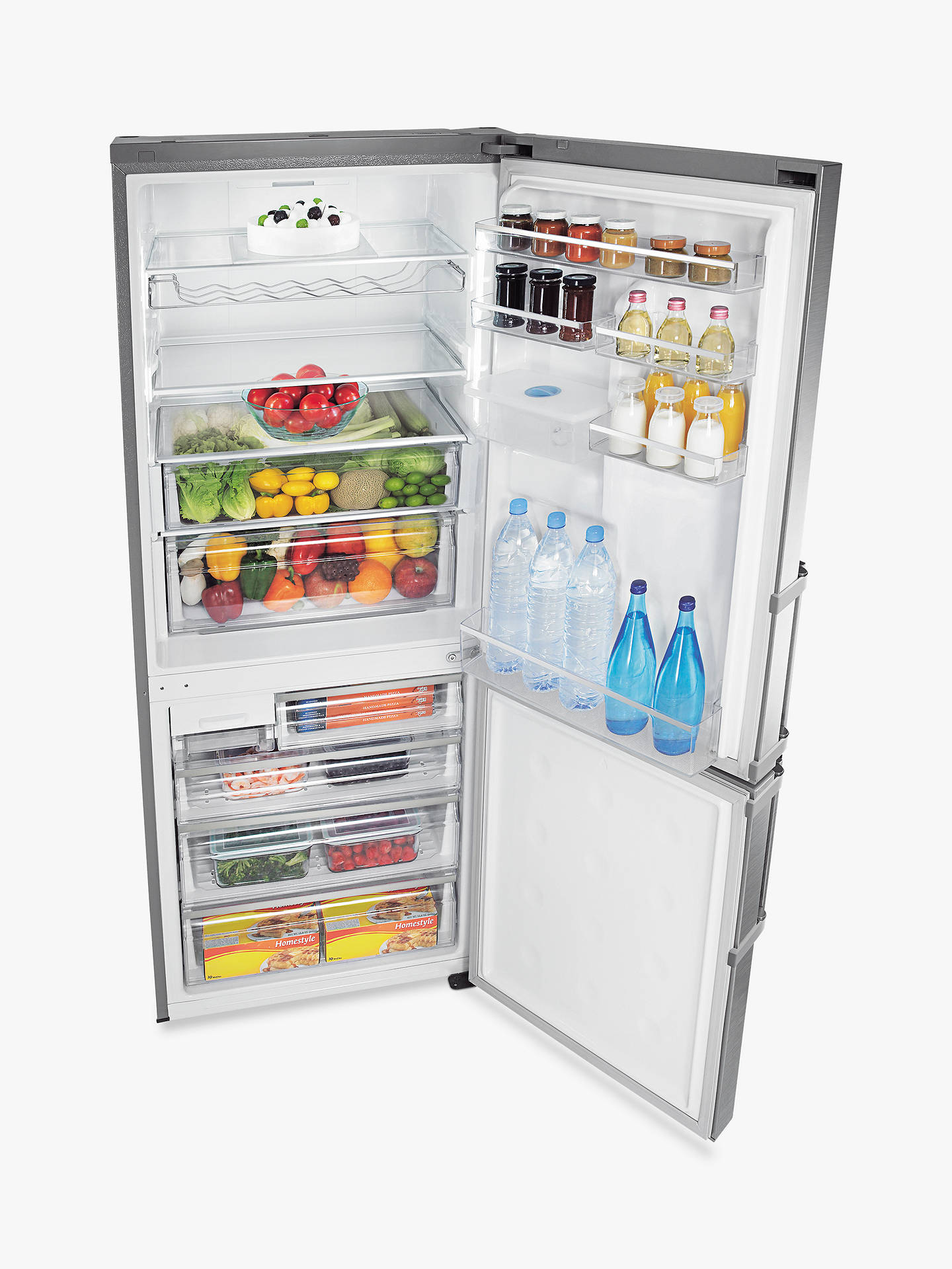 Buy Samsung RL4362FBASL Freestanding 70/30 Fridge Freezer, A+ Energy Rating, 70cm Wide, Stainless Steel Online at johnlewis.com