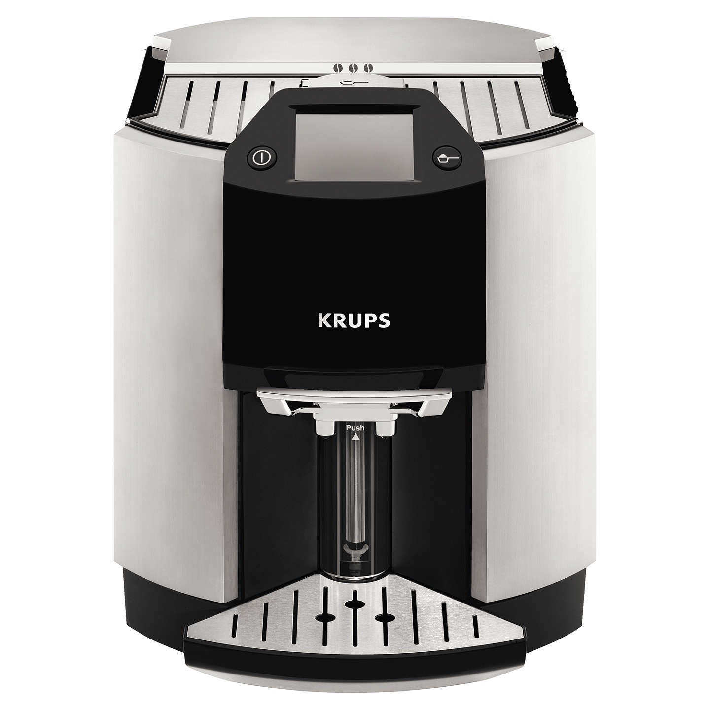 krups ea9010 espresseria bean to cup coffee machine silver at john lewis. Black Bedroom Furniture Sets. Home Design Ideas