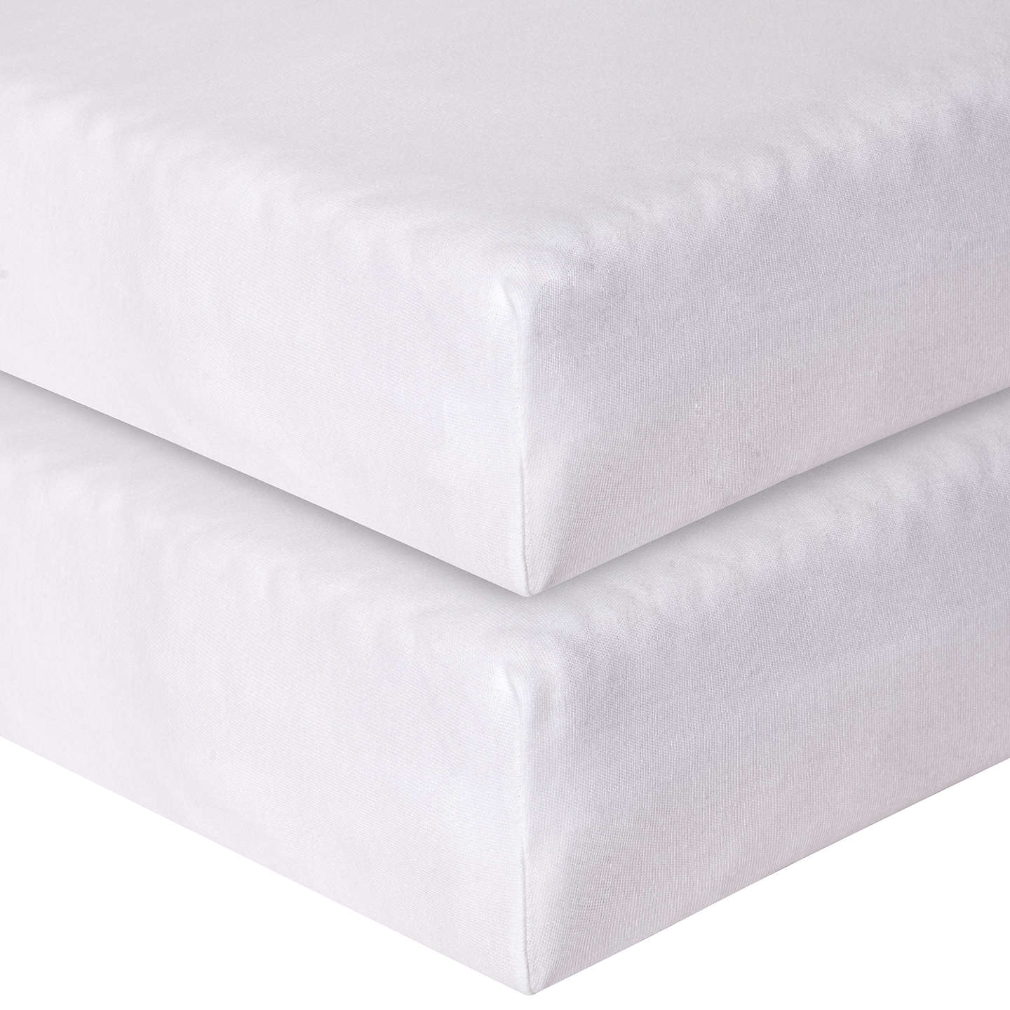 BuyJohn Lewis Fitted Cotbed Sheets, Pack Of 2, White Online At  Johnlewis.com ...