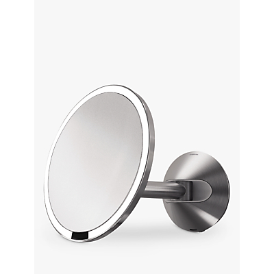Image of simplehuman Mounted Magnifying Sensor Mirror, Battery Operated