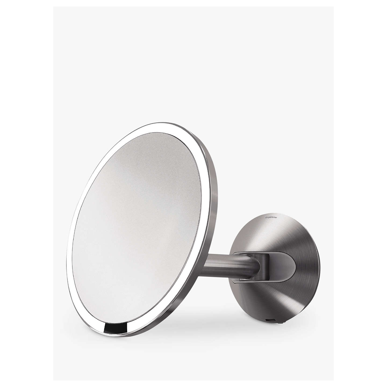 Simplehuman Mounted Magnifying Sensor Mirror Battery Operated At Johnlewis Com