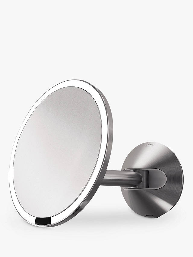 Simplehuman Wall Mounted Sensor Mirror, Brushed Stainless Bathroom Mirror