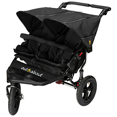 Out 'N' About Nipper 360 Double V4 Pushchair, Black