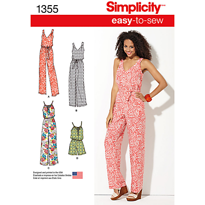 Image of Simplicity Women's Jumpsuit Sewing Pattern, 1355