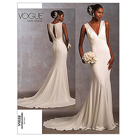 Buy vogue bridal women 39 s gown sewing pattern 1032 john for Wedding dress sewing patterns free