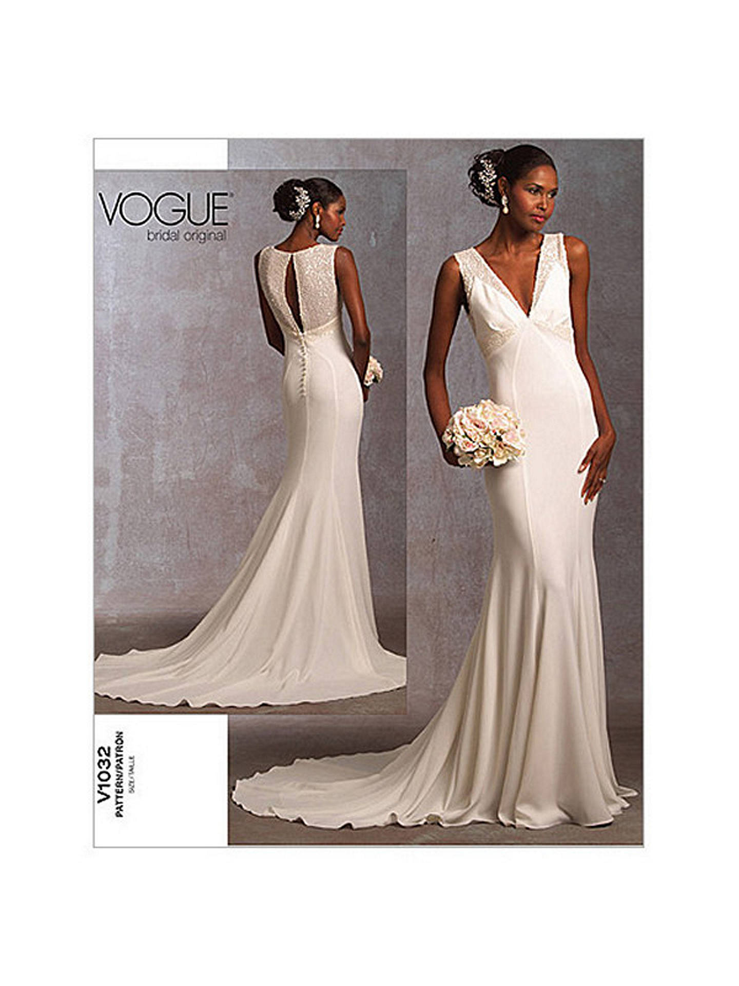 Vogue Bridal Women S Gown Sewing Pattern 1032 A Online At Johnlewis