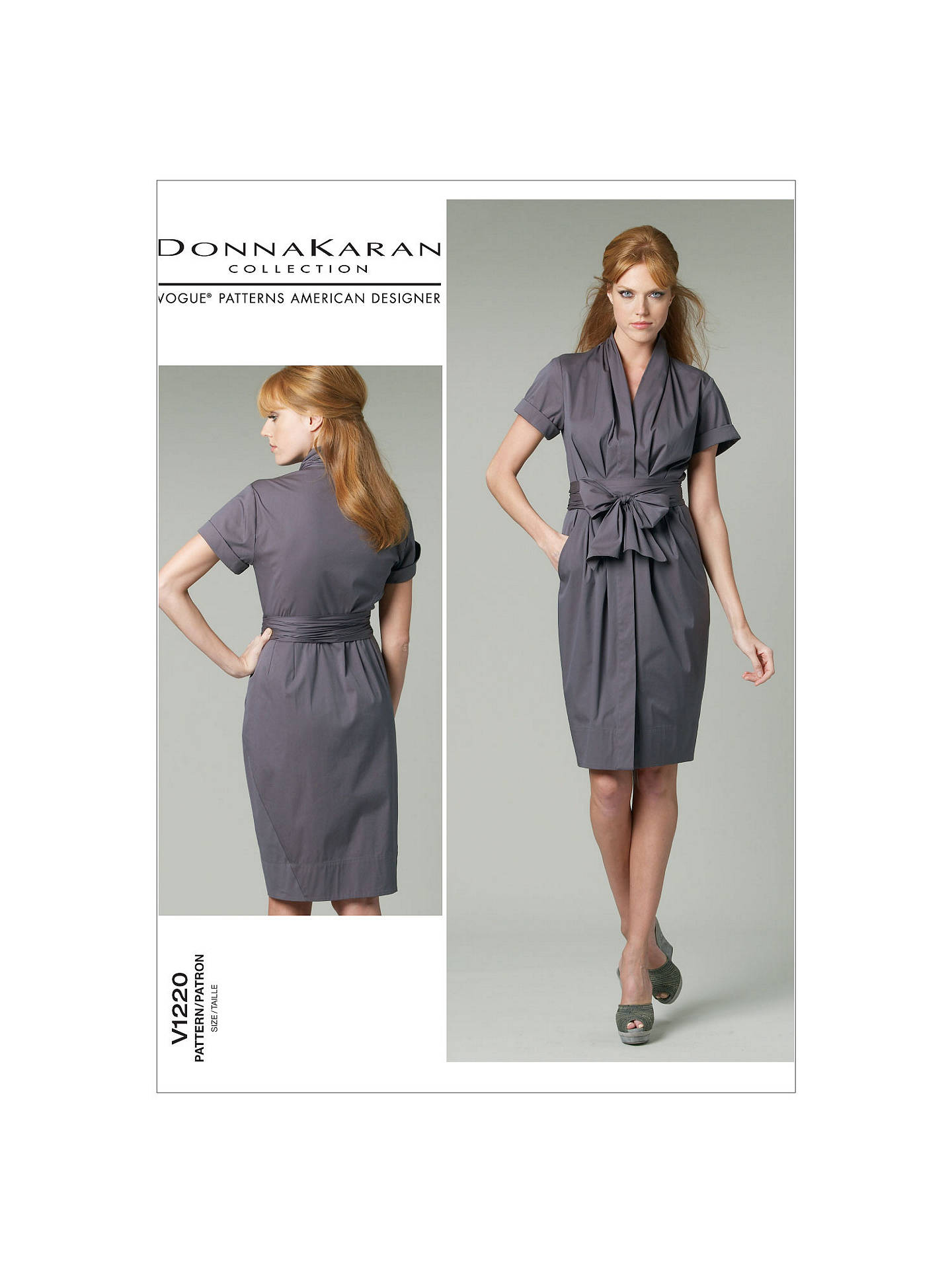 Vogue Donna Karan Women\'s Dress Sewing Pattern, 1220 at John Lewis ...