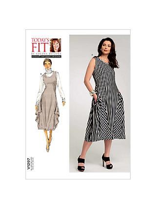 Dresses Plus Size Sewing Patterns John Lewis