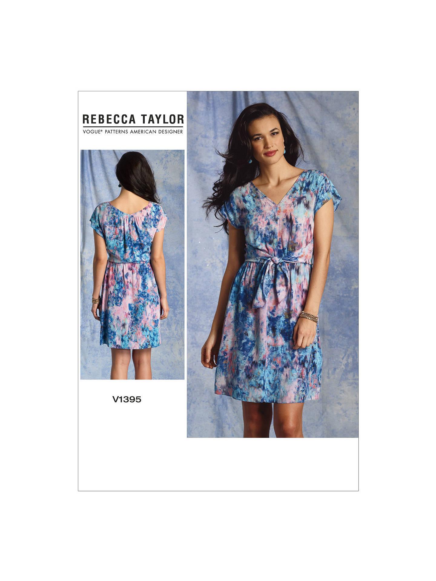 1d59bdd593fa Buy Vogue Rebecca Taylor Women s Dress Sewing Pattern