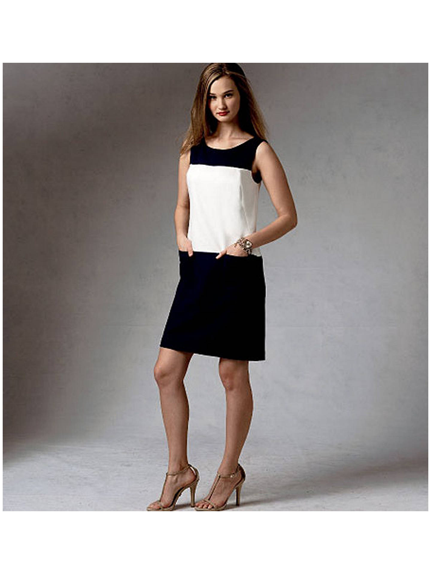 Vogue Anne Klein Women S Dress Sewing Pattern 1382 B5 Online At Johnlewis