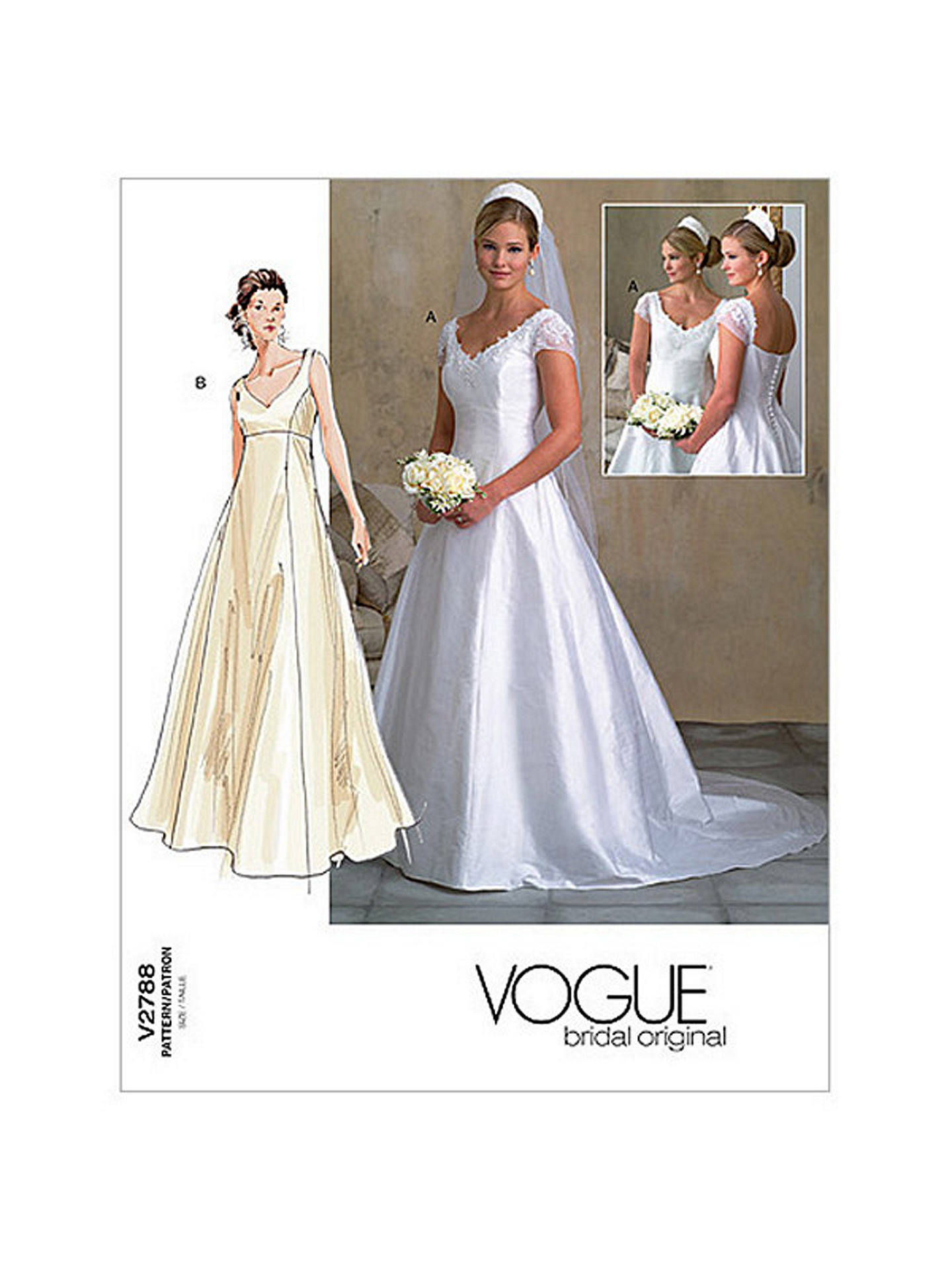 Vogue Women\'s Bridal Gown Sewing Pattern, 2788 at John Lewis & Partners