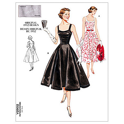 1950s Sewing Patterns- Dresses, Skirts, Tops, Pants Vogue Womens Vintage Model Dresses Sewing Pattern 2902 £15.00 AT vintagedancer.com
