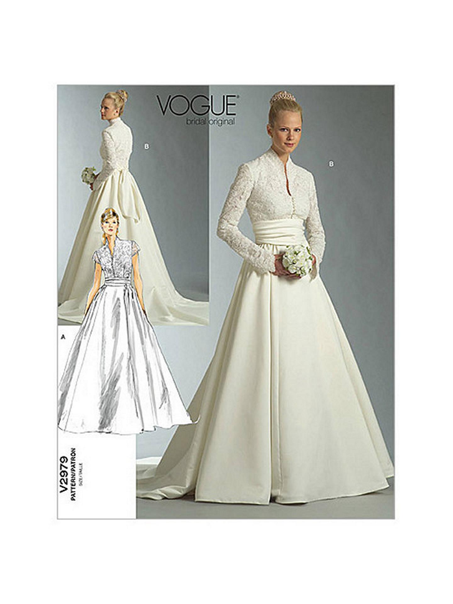 Vogue Women\'s Bridal Original Dress Sewing Pattern, 2979 at John ...