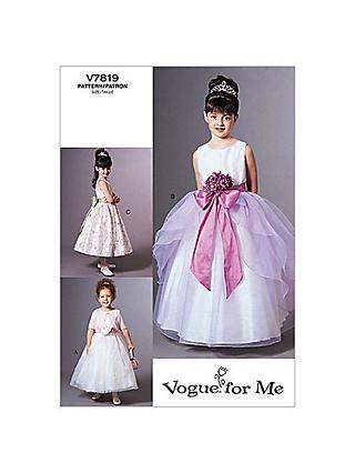 66323721642 Vogue Girls  Jacket and Dress Sewing Pattern
