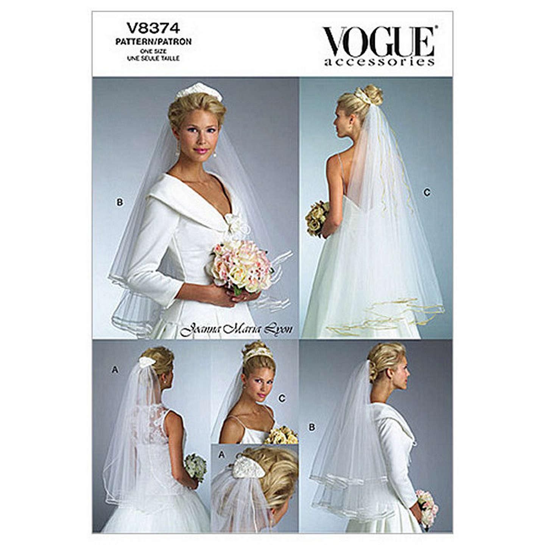 Vogue Women\'s Bridal Veil Sewing Pattern, 8374 at John Lewis