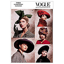 Buy Vogue Women's Accessories Hats Sewing Pattern, 7464 Online at johnlewis.com