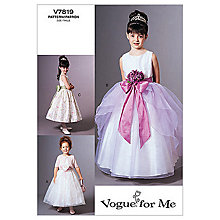 Buy Vogue Girls' Jacket and Dress Sewing Pattern, 7819 Online at johnlewis.com