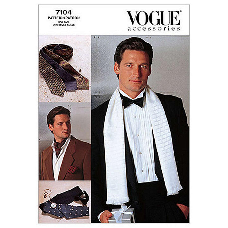 Vogue Men\'s Accessories Ties & Scarves Sewing Pattern, 7104 at John ...
