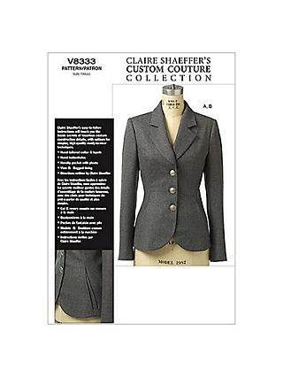 Vogue Claire Shaeffers Women's Jacket Sewing Pattern, 8333