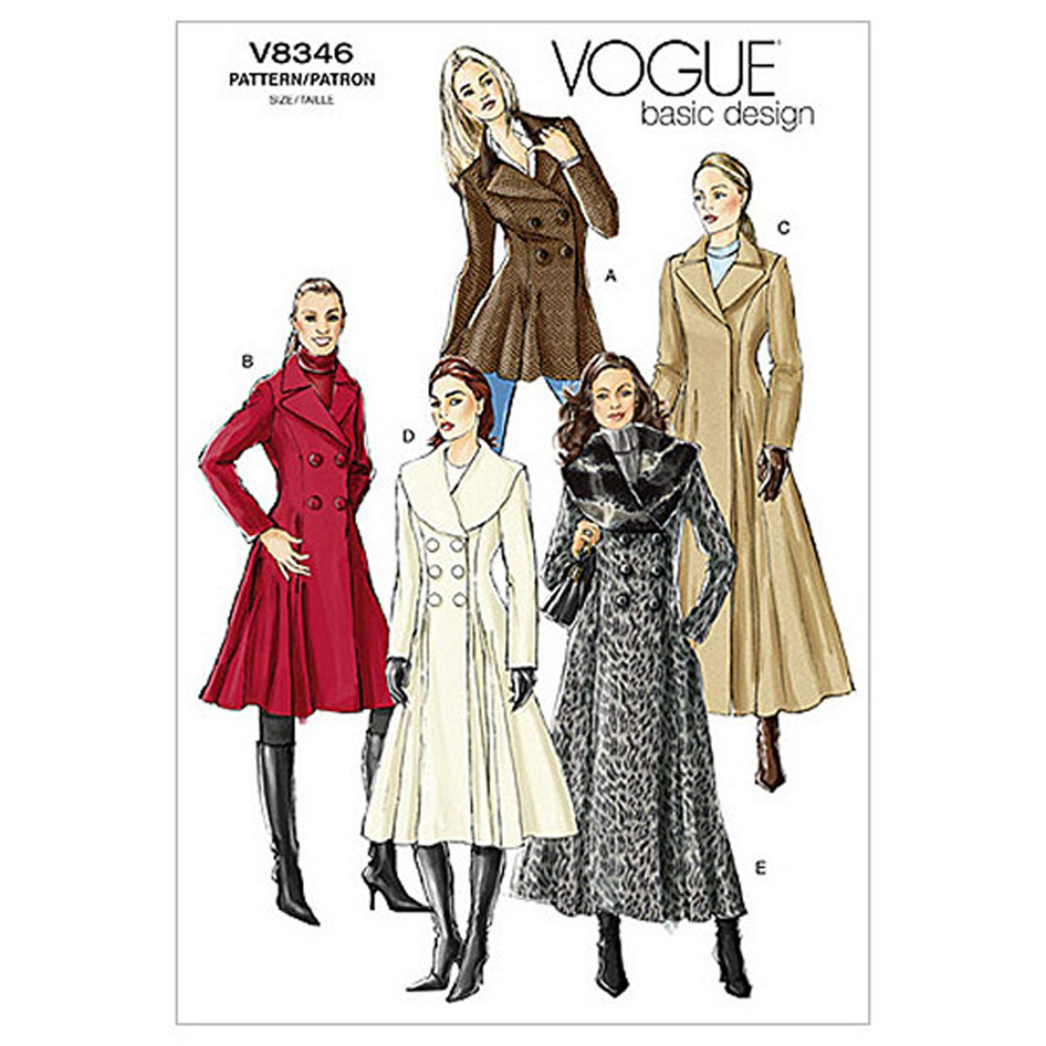 Vogue Women S Coats Sewing Pattern 8346 At John Lewis Partners