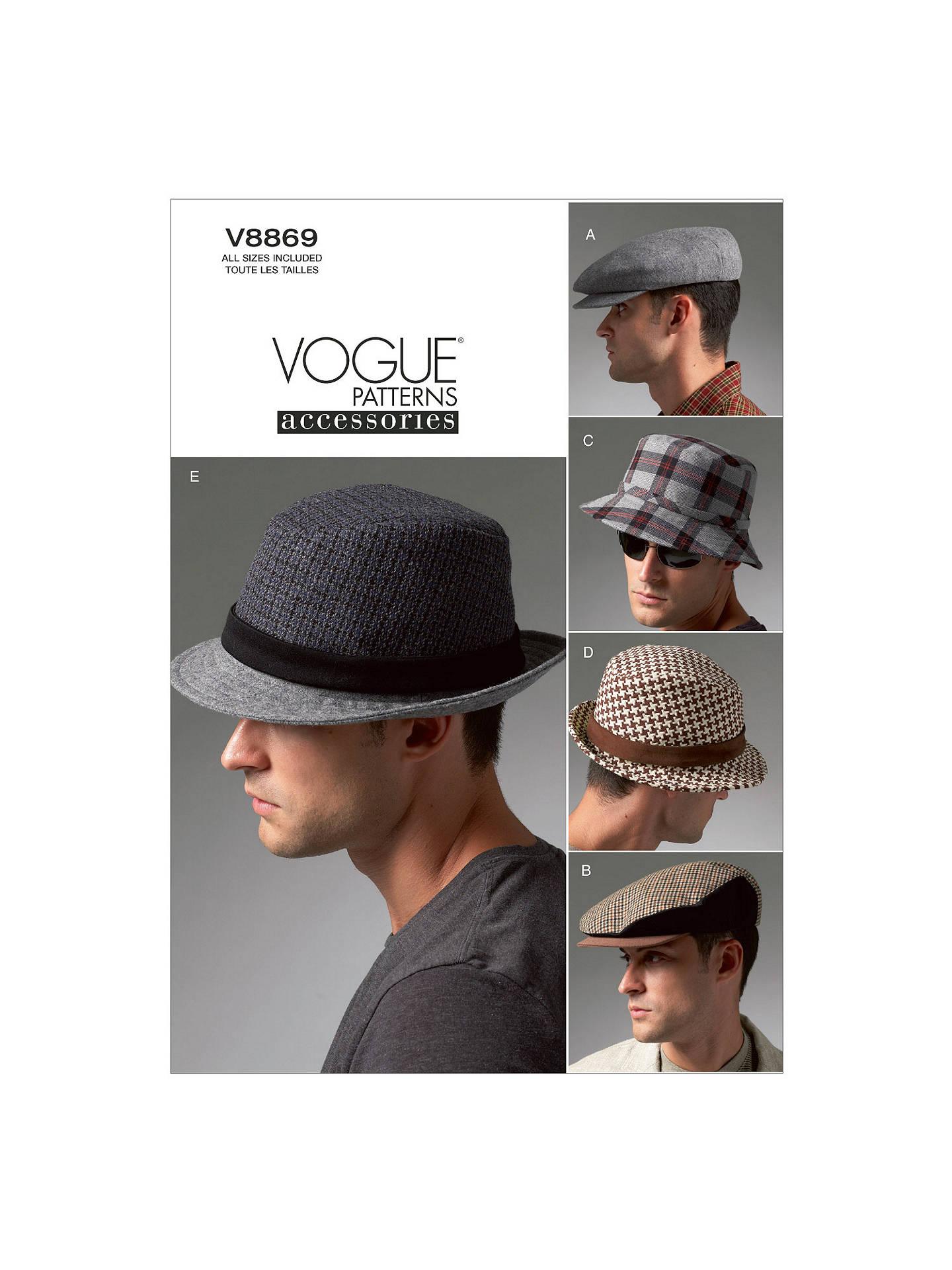 313578fb3c1954 Buy Vogue Men's Hat Sewing Pattern, 8869 Online at johnlewis. ...