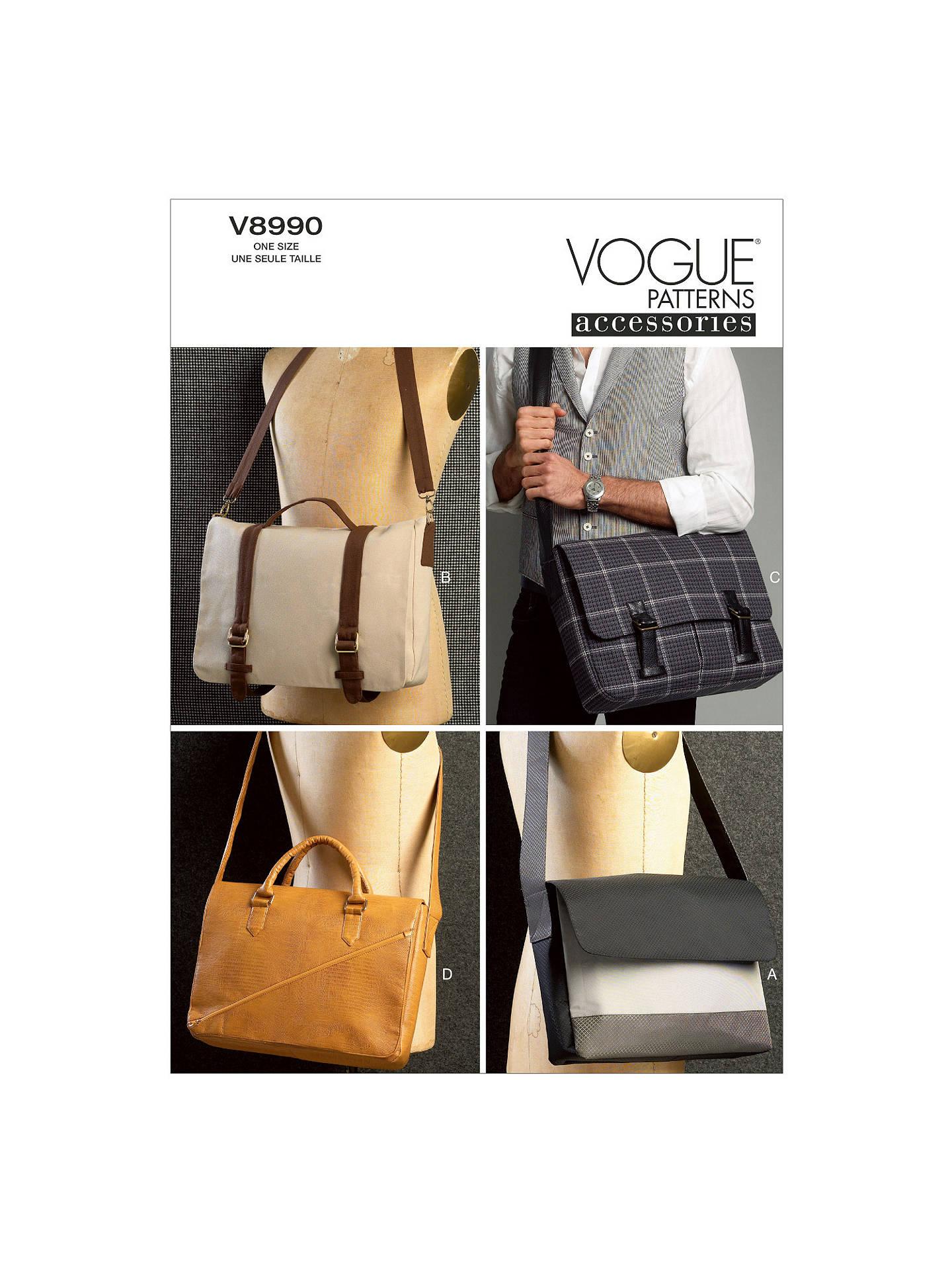 Vogue Messenger Bags Sewing Patterns 8990