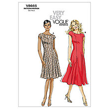 Buy Vogue Very Easy Women's Dress Sewing Pattern, 8665 Online at johnlewis.com