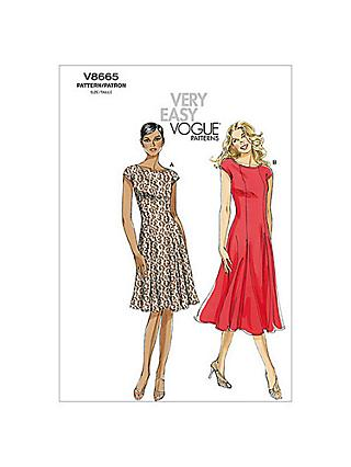 Vogue Very Easy Women's Dress Sewing Pattern, 8665