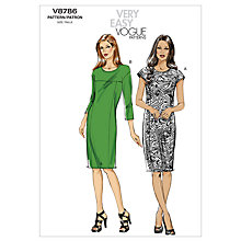 Buy Vogue Women's Dresses Sewing Pattern, 8786 Online at johnlewis.com