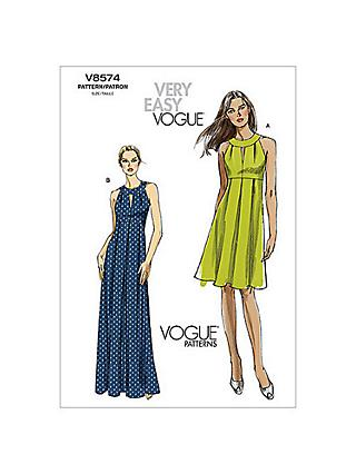 461a0bea8ed7 Vogue Women s Dresses Sewing Pattern