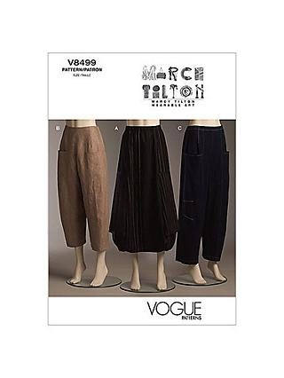 Vogue Marcy Tilton Women's Skirt and Trousers Sewing Pattern, 8499