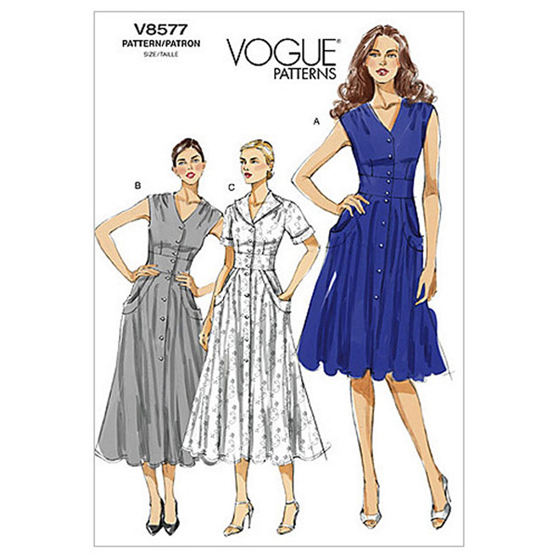 Vogue Women S Dresses Sewing Pattern 8577 At John Lewis Partners