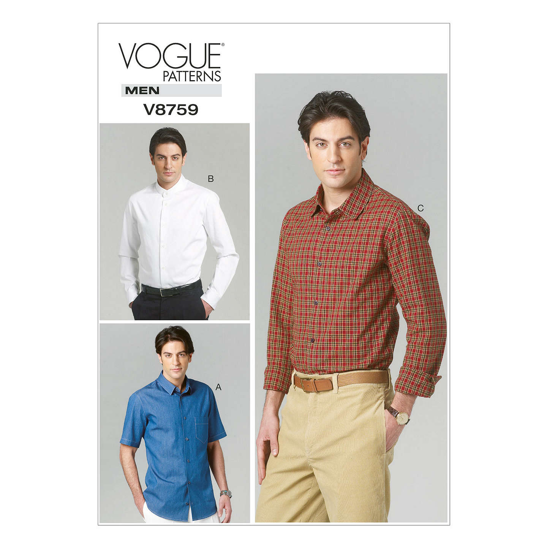 Vogue Men\'s Shirt Sewing Pattern, 8759 at John Lewis