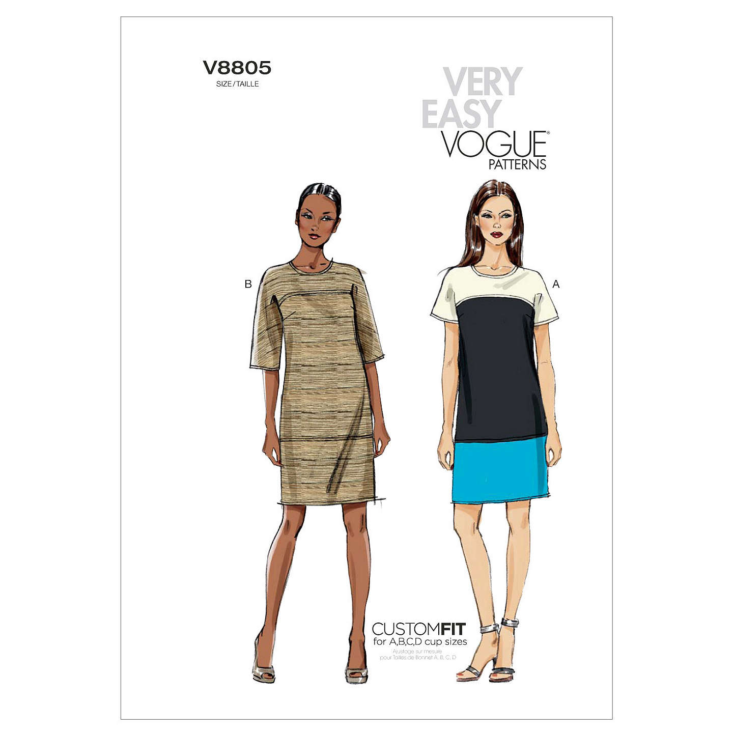 Vogue Women's Dress Sewing Pattern, 8805 At John Lewis