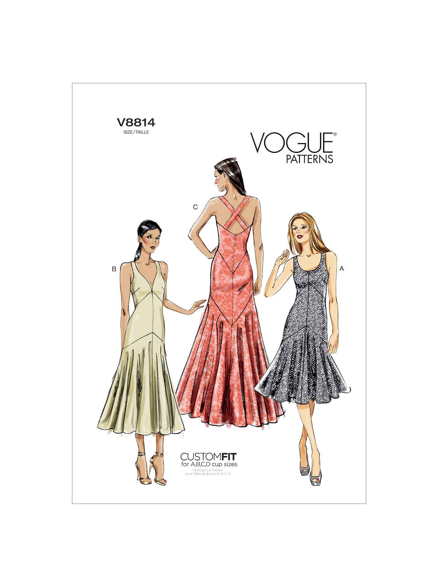 81946c80b Buy Vogue Women s Dresses Sewing Pattern
