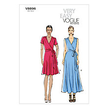 Buy Vogue Women's Dresses Sewing Pattern, 8896 Online at johnlewis.com