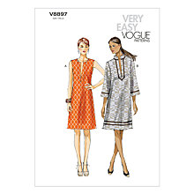 Buy Vogue Women's Dresses Sewing Pattern, 8897 Online at johnlewis.com