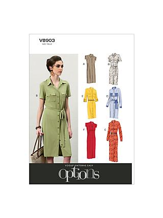 Vogue Women's Dresses Sewing Pattern, 8903