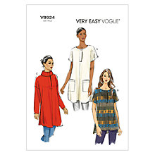Buy Vogue Very Easy Women's Tunic Sewing Pattern, 8924 Online at johnlewis.com