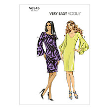 Buy Vogue Women's Dresses Sewing Pattern, 8945 Online at johnlewis.com