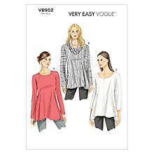 Buy Vogue Women's Tunic Sewing Pattern, 8952 Online at johnlewis.com